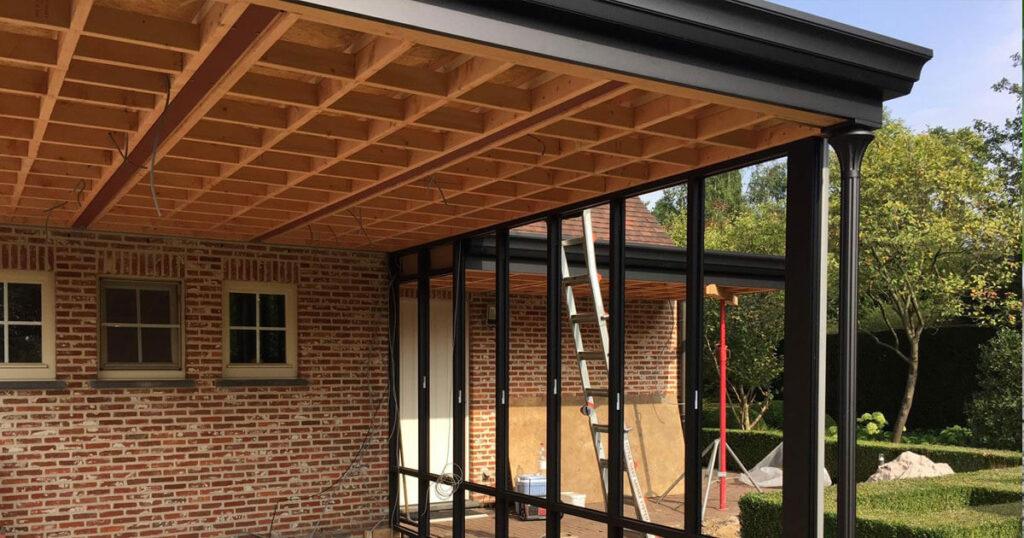 opbouw dak veranda