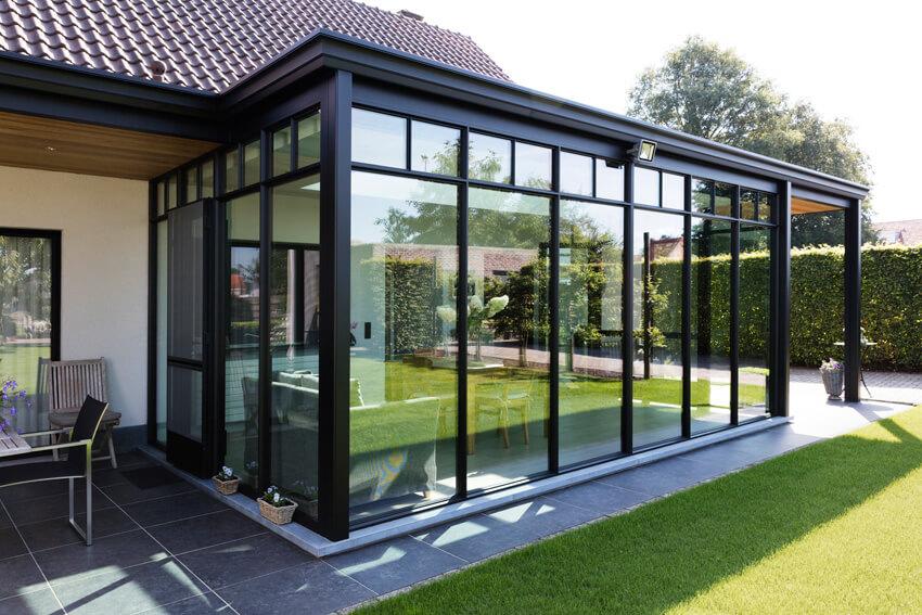 aluminium ral 9005 veranda